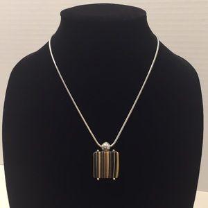 Brighton Striped Pendant Necklace